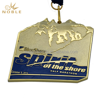 Cheap Custom Die Cast Sport Metal Medal Award With Ribbon