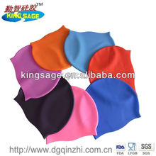 Summer popular soft healthy silicone swim cap.silicone swim cap