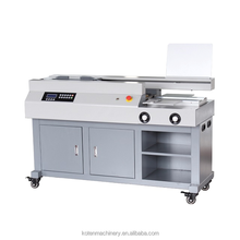 767HC A3 Notebook glue binder Perfect binding machine with side glue and three rollers glue system