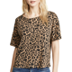 Dongguan factory wholesale 95% cotton 5% elastane leopard print casual t shirt for women