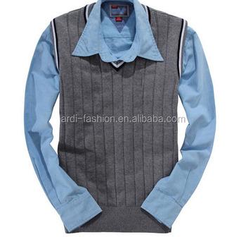 f48ce0985414 Oem Custom Hand Knitted Cool Mens Sleeveless Sweater Vest - Buy ...