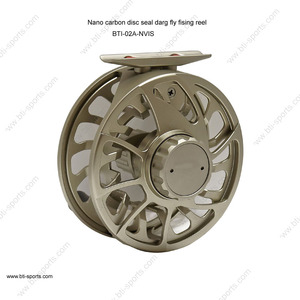 CNC machined Super large arbor ultra light sealed Nano carbon drag click stop freshwater saltwater fly fishing reel (B01)