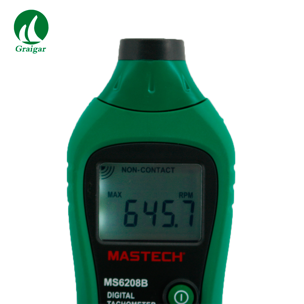 MASTECH MS6208B Digital Tachometer Non-Contact Speed Meter 50RPM-99999RPM