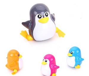 ZUINIUBI Small Clockwork toys 6pcs cute cartoon penguin Baby learning to crawl toys child baby early education learning toys for boys girls 0-1 year old baby