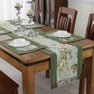 Recycled greenery waterproof table runner