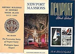 Newport Rhode Island Mansions Brochures 1962 Aquidneck Island Historic Buildings