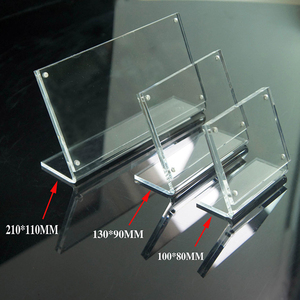 Clear Acrylic Price Tag Display Stand Holder Menu Sign Holders with Magnet