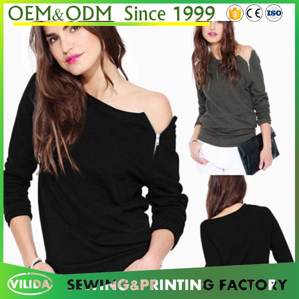 HOT Womens Off Shoulder Long Sleeve Shirts Top Cotton Casual T-Shirt Tops Blouse