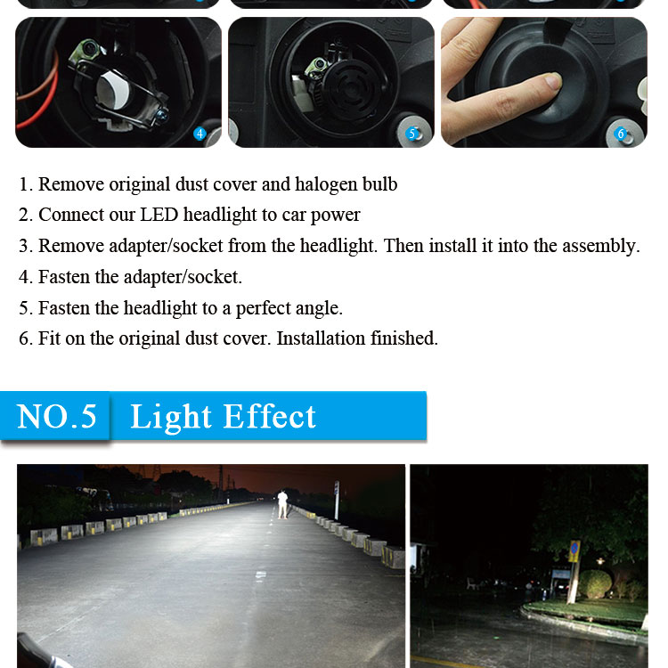 Hot selling IP68 6000k 12v high power led car accessories c6 9006 led bulbs