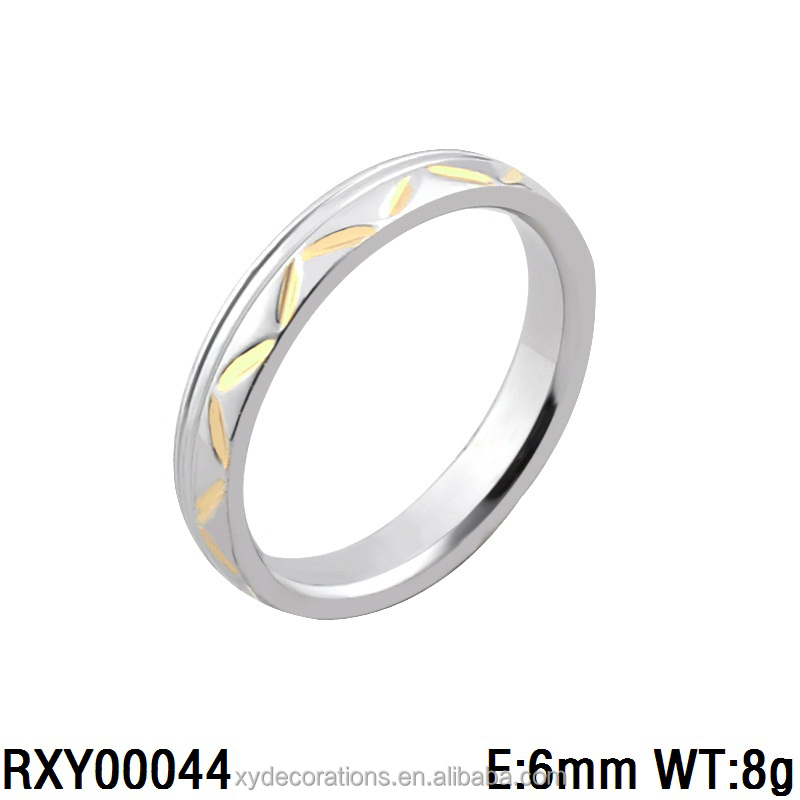 RXY00044 hot new men and women fashionable custome made ring stainless steel gold plated jewely