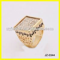 gold signet ruby diamond ring men jewelry
