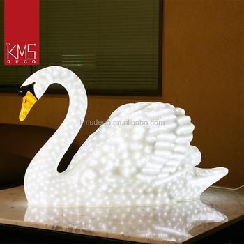 Kms Patent Products Led Light Up Swan 3d Sculpture Theme Park ...