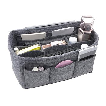 Felt Handbag Purse Organizer Insert Multi Pocket Shaper Fits Tote Bag