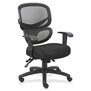 Get Quotations · LLR60622   Lorell Mesh Back Fabric Executive Chairs