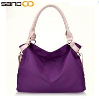 Wholesale 2017 china trendy ladies leather hand bag , free sample pu leather handbag