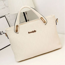 korean womens fashion pu leather hobo tote handbag