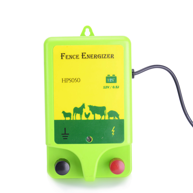 12v battery powered waterproof 0.5j electric fence energizer for livestock farming