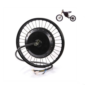 With 3.0 tire and tube QS 273 8000w rear motor wheel with 10G spokes assembled