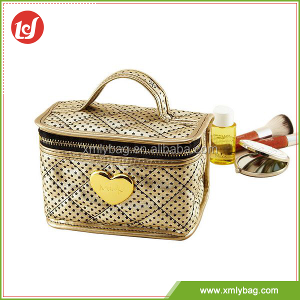Alibaba hot selling makeup tote satin cosmetic bag personalized