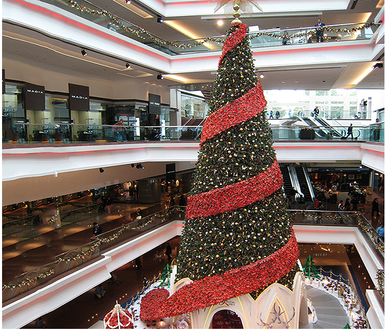 Large Giant Outdoor Artificial Christmas Tree With Star ...