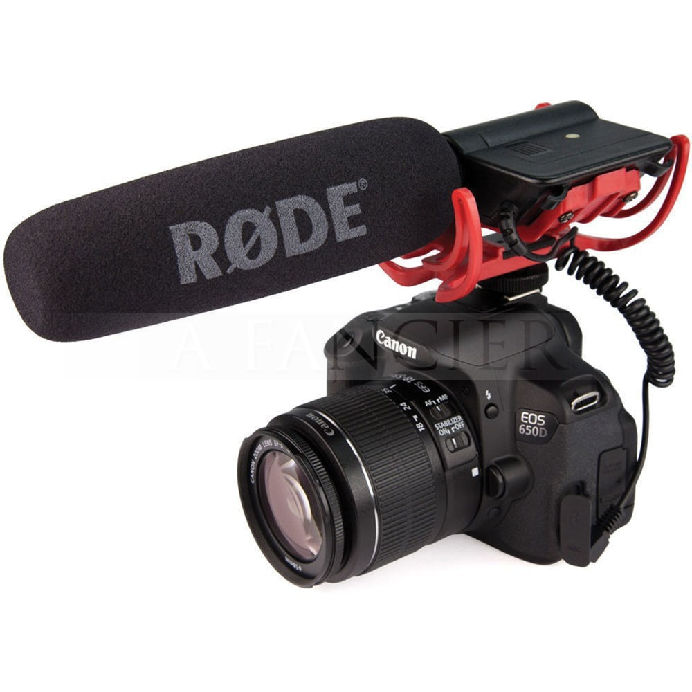 Rode VideoMic On Camera Mounted Shotgun Mic Microphone with Windshield for  Canon T3i 5D2 7D 60D 70D 5D3 dslr