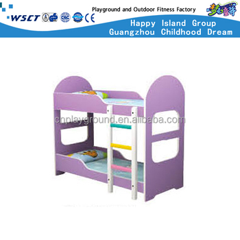 Hc 2316 Kids Wood Bunk Bed Used School Furniture Double Story Beds