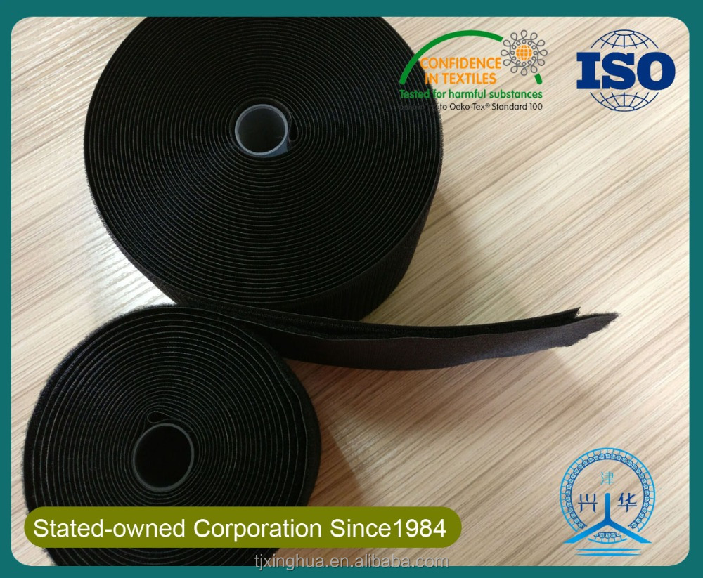 factory customed 70% nylon and 30% polyester hook and loop/hook and loop producter