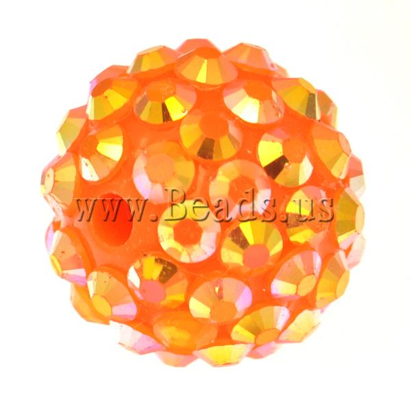 Free shipping!!!Resin Rhinestone Beads,2013 new european and american style, Drum, yellow, 12x14mm, Hole:Approx 2.5mm