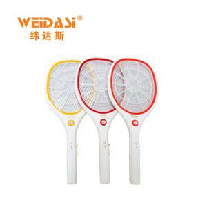 Cheap rechargeable ABS kill mosquito swatter racket with LED