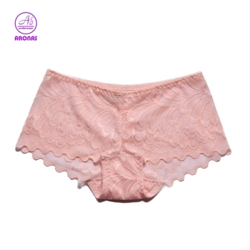 Ladies Lacy Transparent Sexy Satin Boxer Shorts Panties For Women ... f0715070c4