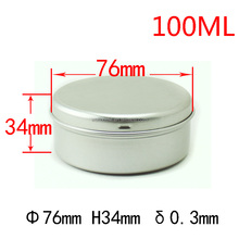 round containers 50ml 100g aluminum screw top tin AJ-054A