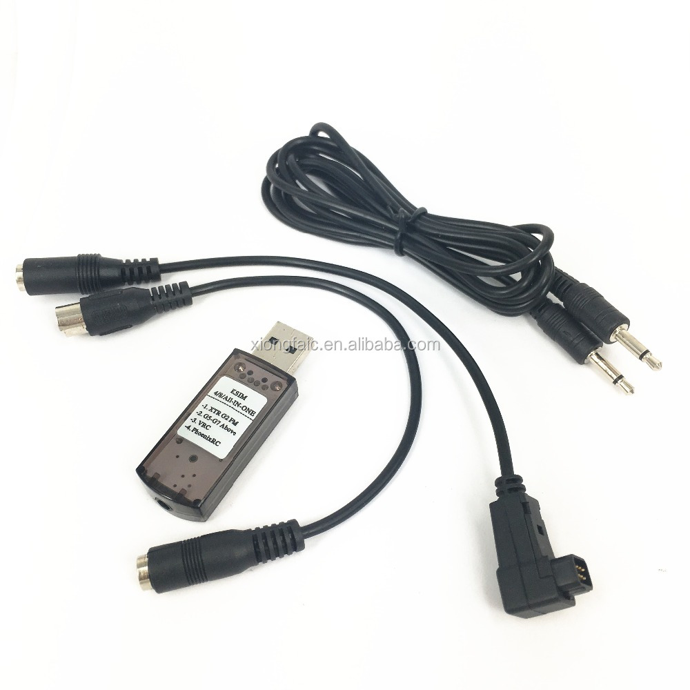 All in one G7 22 in 1 USB Flight Simulator Cable with Password Phoenix, G7, Reflex XTR, AeroFly, FMS, CAR VRC2.0