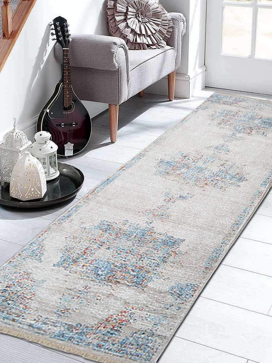 "Crossweave Machine Made Polyester 2'6"" x9'10 Turkish Oriental Runner Rug Multi"