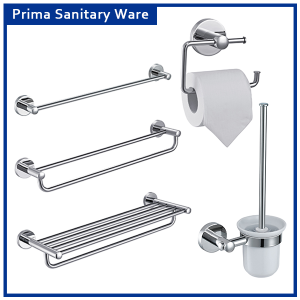 304 stainless steel 5 piece simply bathroom accessories