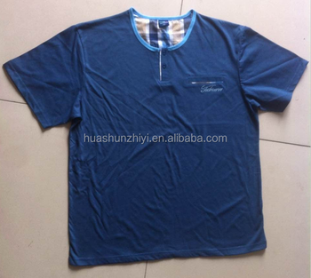 Wholesale cheap men's cheap navy plain O-Neck cotton T shirts