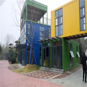 Customizable Fabricated Container House Office Industrial Park Prefab House With Sandwich Panel And Steel Plate