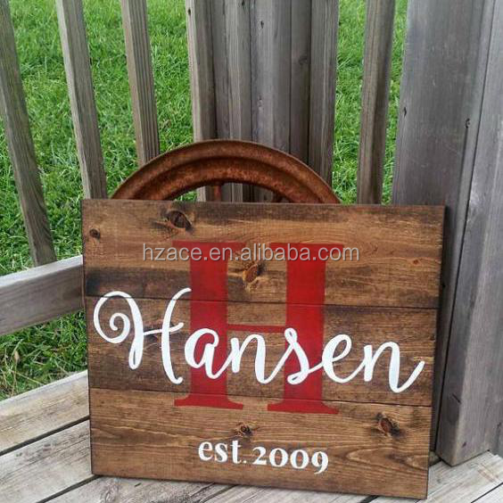 rustic wooden sign