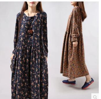 2863411ec59 Z91401AFactory New Long Sleeve Cotton Maxi Dress Soft Casual Clothing  Indonesia Muslim Dress