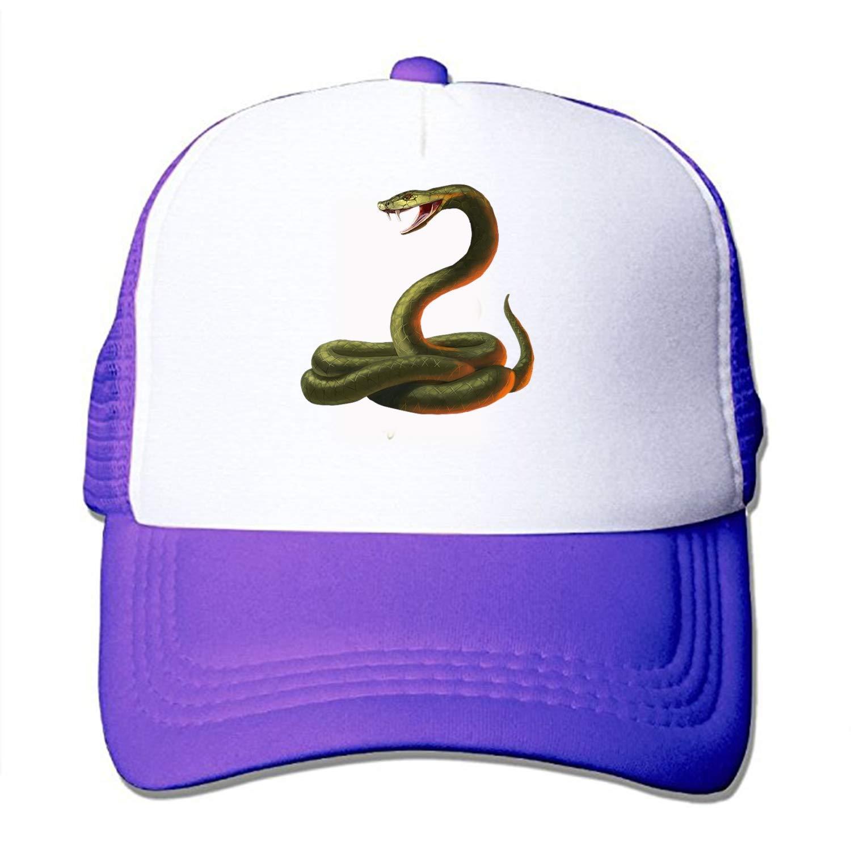 size 40 ee1ba ab880 Get Quotations · Una Stowe Men s Adjustable Print Snake-Transparent  Baseball Hat Caps Sun Hat