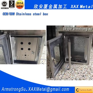 XAX80DB Non standard single three phase distribution box electrical 304 316 ss304 ss316 sus304 sus316 seed storage metal box