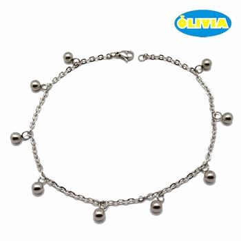 Customized Stainless Steel Ankle Bracelet Ball Chain Anklet