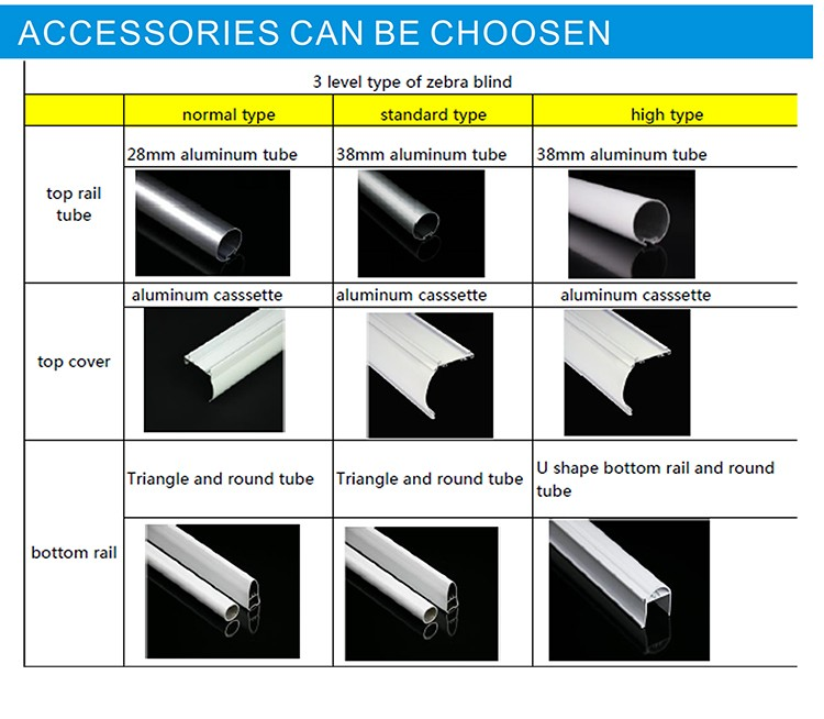 Wholesale Quality Durable Zebra Blind Parts And Components