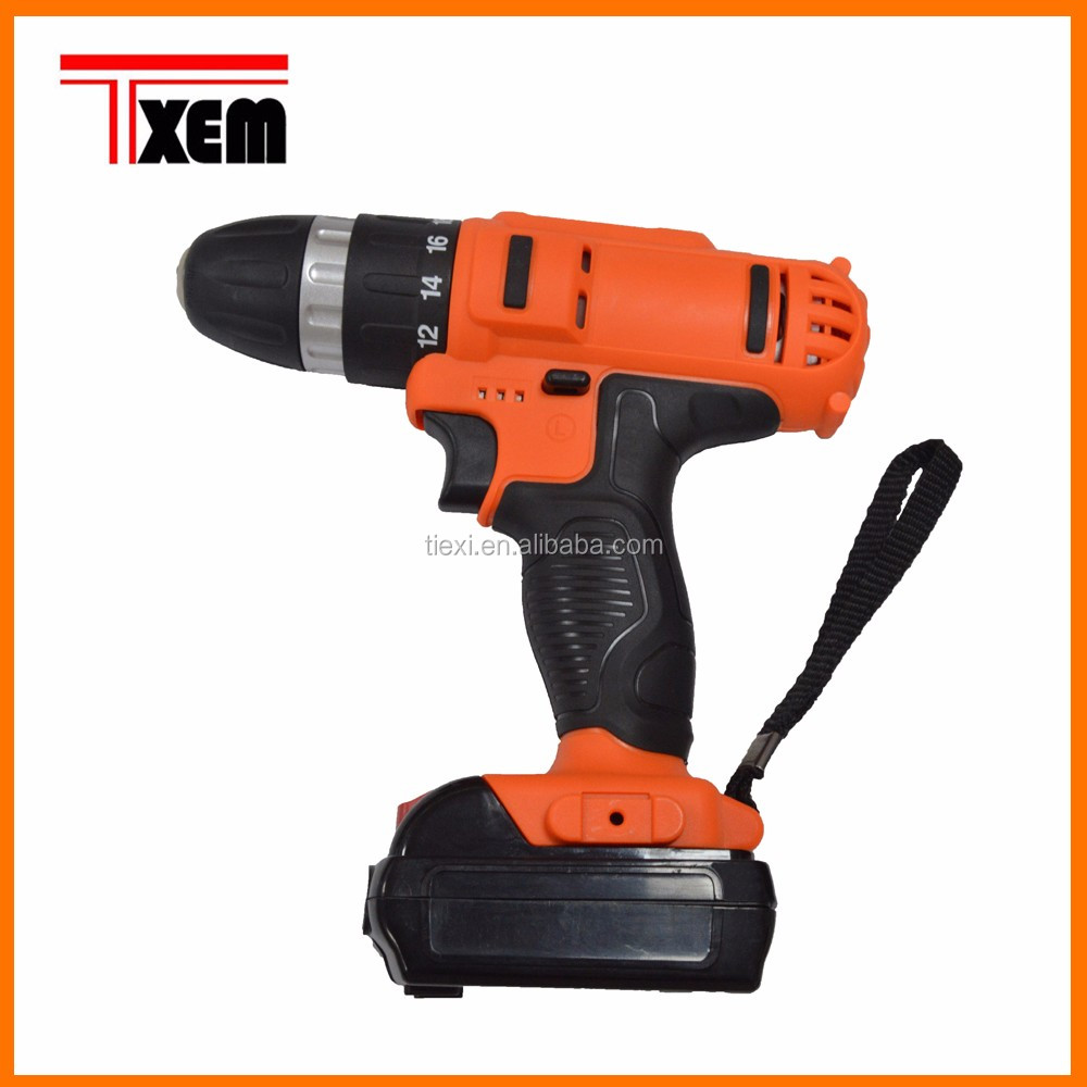 TX-DZ18SD 18v 400W 1900rpm Hand Tools rechargeable Electric <strong>Drills</strong>