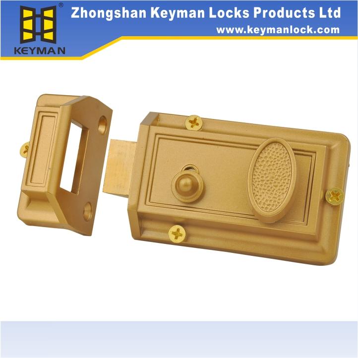 Rim Lock Deadbolt Adjustable Entry Door Night Latch - Buy Rim,Rim ...