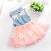 New arrival baby cotton birthday party dress new model baby girls frock patterns