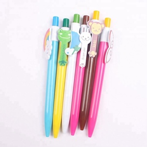 Wholesale cartoon promotional expressions cute plastic ballpoint pen for kid gift