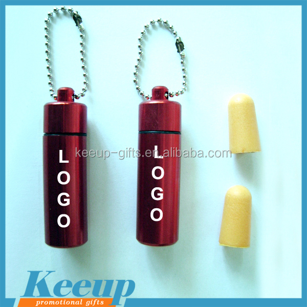 Hot sale 100% eco-friendly Promotional Soundproof pu foam earplugs with metal tube.jpg
