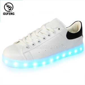 7 color wearing sneakers changing light recharging led shoe for party men shoes