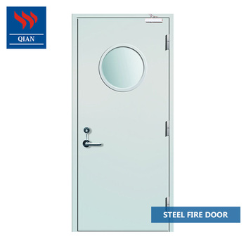 30 Min Steel Entry Door Fire Rated Garage Doors With Glass Windows