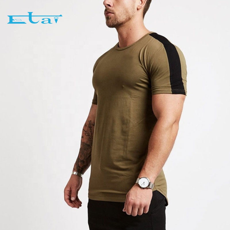 Custom Slim Fit Men's Bodybuilding Muscle Training Workout Fitness Plain Gym T <strong>Shirt</strong>